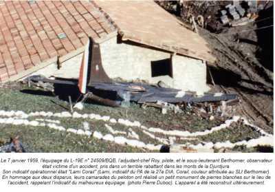 7 Janvier 1959 ---- Mont du Djurdjura Adjudant-Chef ROY et Sous-Lieutenant BERTHOMIER victimes d'un coup de vent