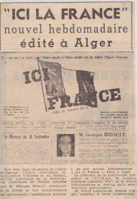 """Nouvel hebdomadaire """"ici la France"""""""