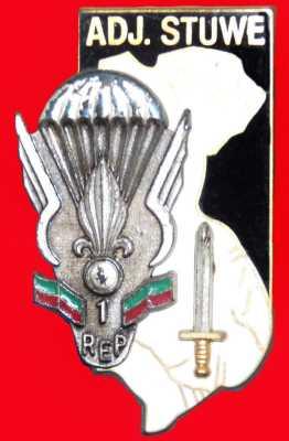 Adjudant STUWE Insigne de la promotion de sous-officier portant le nom de l'Adjudant STUWE