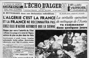 7 Novembre 1954 ---- MITTERAND