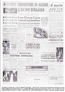 l'Echo d'Alger  du 2 Novembre 1954