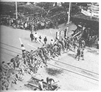 Alger Janvier 1960 Les Barricades rue Michelet