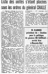 22-04-1961 Le Putsch
