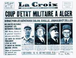 Le PUTSCH 22 Avril 1961 Journal LACROIX