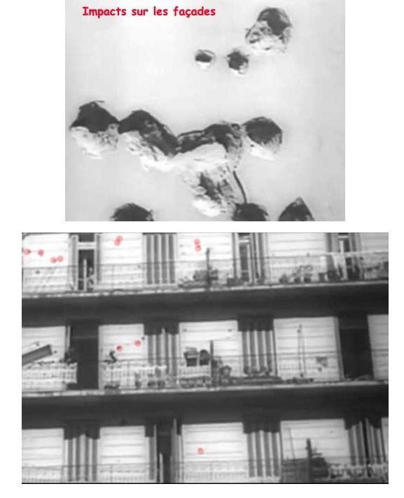 Mitraillage des immeubles