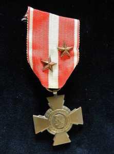 Croix de la Valeur Militaire avec deux citations
