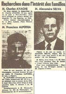 Charles AYACHE Francisco ALFOSEA Alexandre SELVA