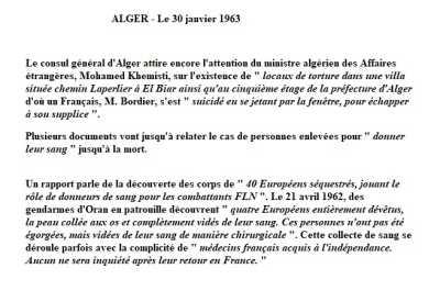 ALGER - 30 Janvier 1963