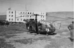 Alouette devant la gendarmerie de Foum Toub