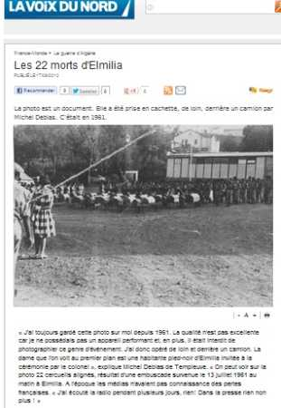 Les 22 Morts d'EL MILIA 13 juillet 1961