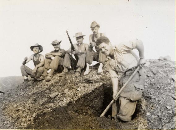 creusement d'un trou