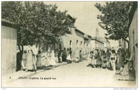 AFLOU - La Grande Rue en 1900