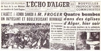 Highlight for Album: 30 Décembre 1956  Obsèques de Roger FROGER  Maire de BOUFARIK