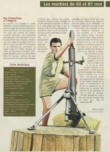 Mortiers de 60 et 81 mm Dessin Richard ROUSSEL