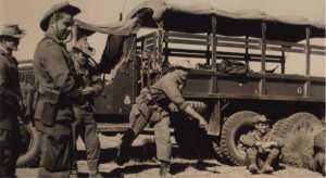 Pause au cours d'une patrouille