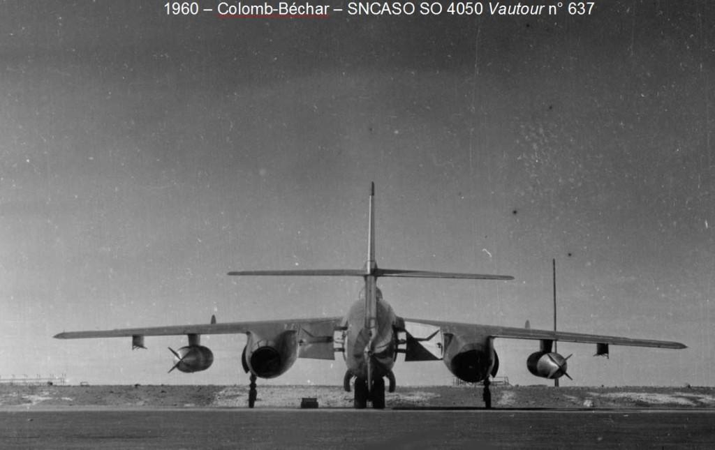 """COLOMB-BECHAR en 1960 Un SNCASO SO 4050 """"Vautour"""""""