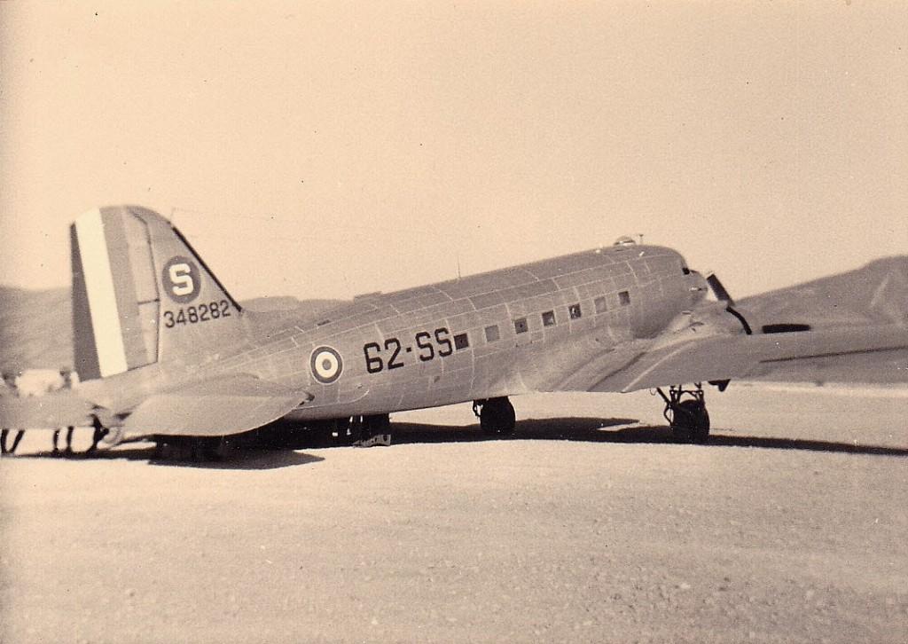 avion du GT 3-62  au Sahara