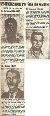 Jacques MOLINES  Roger PICO Georges REGIS