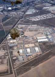 Photo du camp Michel Legrand prise lors d'un parachutage Photo G. M. Morin