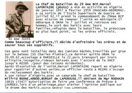 Commandant Marcel LAFONTAINE