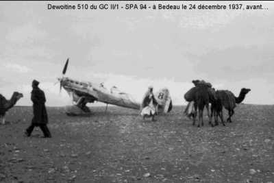 BEDEAU - Un DEWOITINE 510 le 24 dcembre 1937