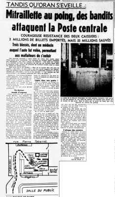 BEN BELLA  Le HOLD-UP du 5 avril 1949  3 millions d'AF