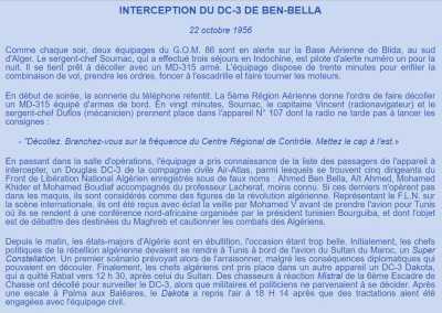 Arraisonnement de l'avion de BEN BELLA