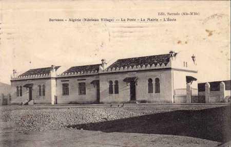 BERTEAUX La Poste, La Mairie, l'Ecole