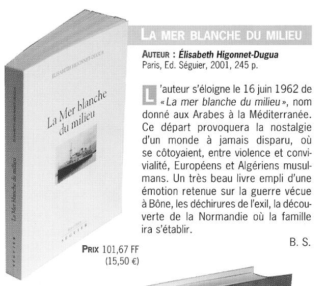 La Mer Blanche Du Milieu Elisabeth HIGONNET-DUGUA
