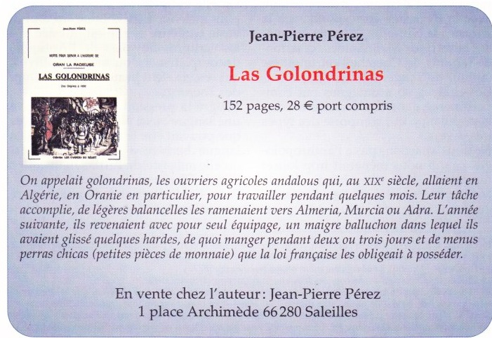 Les Golondrins Jean-Pierre PEREZ