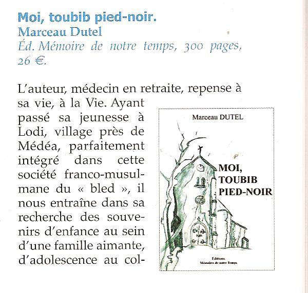 Moi Toubib Pied-Noir Marceau DUTEL