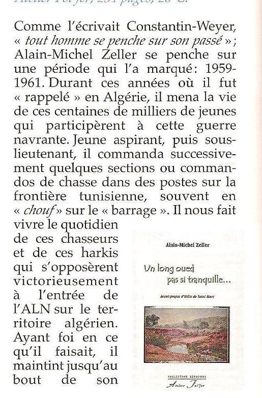 Un long Oued pas si tranquille Alain Michel ZELLER