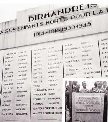 BIRMANDREIS Le Monument aux Morts
