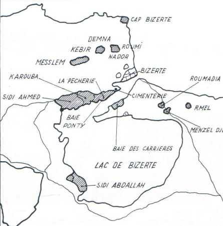 BIZERTE, la carte des combats
