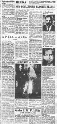 BLIDA le 25 Janvier 1960