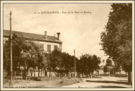 BOUKHANEFIS - Rue de la Paix et des Ecoles