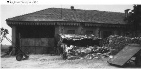 La ferme CARRAZ en 1981