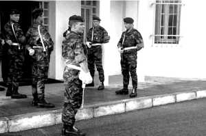 Commandos du CPA 30/541  au quartier Rignot en novembre 1959.  Photo Michel Vanrapenbusch