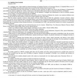 Capitaine Jean GRAZIANI  ---- Biographie