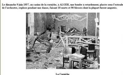 ALGER 1957 - bataille d'Alger bombe au Casino de la Corniche