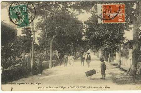 CASTIGLIONE - L'Avenue de la Gare