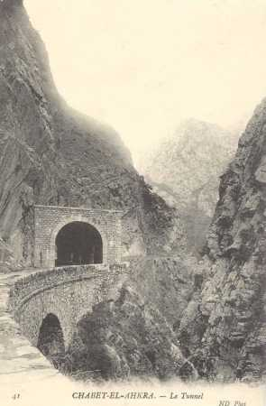 CHABET-EL-AHKRA - le tunnel