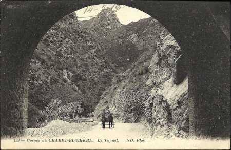 CHABET-EL-AHKRA - les gorges et tunnel