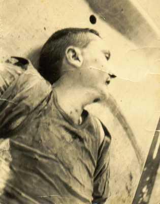 Le corps sans vie du Commandant Paul BAZIN