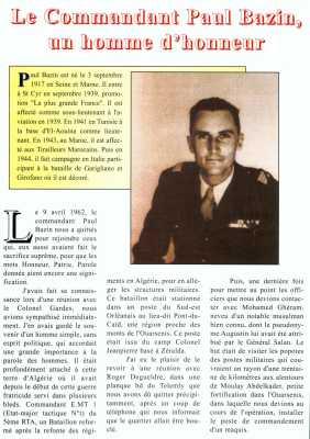 Commandant Paul BAZIN  un homme d honneur