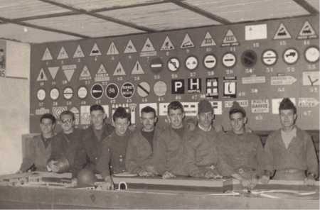 Militaires du CIT 160 en novembre 1955