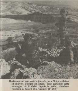 Commando GEORGES A gauche Lieutenant RIGUET