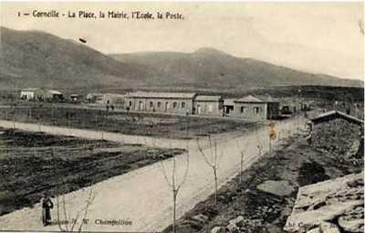 CORNEILLE La Place - La Mairie - L'Ecole - La Poste