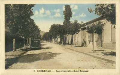CORNEILLE La Rue Principale et l'hotel