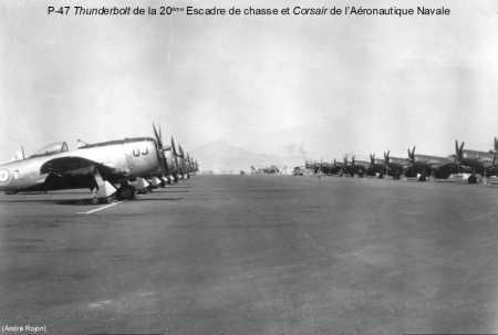 P47 THUNDERBHOLT et CORSAIRS sur la base de TELERGMA